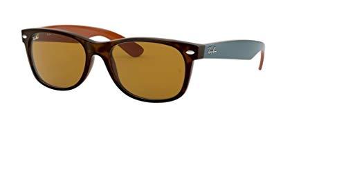 Ray Ban RB2132 New WAYFARER - Gafas de sol para hombre para mujer, color marrón mate, 55 mm
