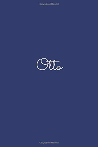 Otto: notebook with the name on the cover, elegant, discreet, official notebook for notes, dot grid notebook,