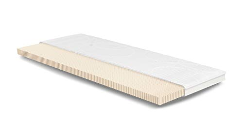 Latex Topper 100x200 cm | Aloe Vera | Weich | 7cm | 3D-Klimaband | 5cm Klimalatex RG65 | Topper Latex 100 x 200 | Für Matratze u. Boxspring