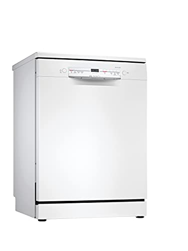 Bosch SGS2ITW08G Serie 2 Freestanding Dishwasher, ExtraDry, Glass Protection, Height Adjustable Top Basket, DosageAssist and Load Sensor, 12 place settings, 60cm wide - White