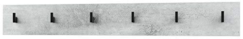 Vladon Wandgarderobe Wandpaneel Garderobenpaneel Linea in Beton Oxid Optik