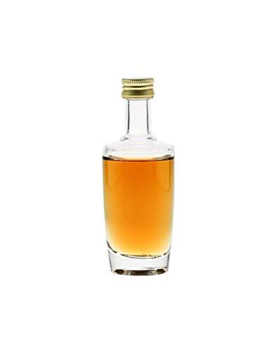 Senso Design Lot de 6 bouteilles miniatures | 50 ml | Verre transparent | avec bouchon à vis (PP18), bouteilles vides à remplir, bouteilles d'alcool