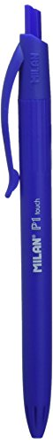 Milan P1 Touch - Pack de 4 bolígrafos, color azul