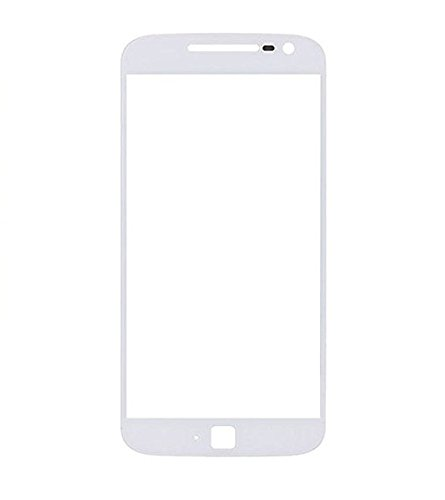 Shockware Touch Screen Front Outer Glass Replacement Part Compatible With Motorola Moto G4 Plus : White