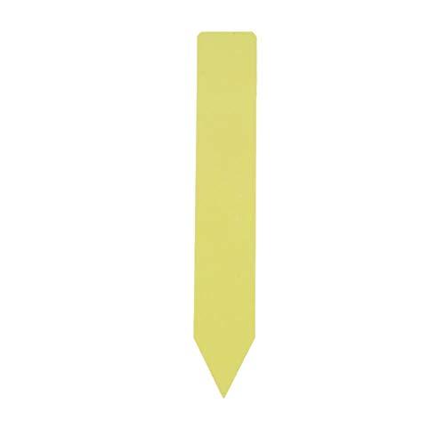 Usine En Plastique Étiquettes PP Étanche Réutilisable Pot Marqueur Pépinière Jardin Graine Stake Tags Jardinage Outils 15 * 2.5 cm 100 Pcs(jaune)