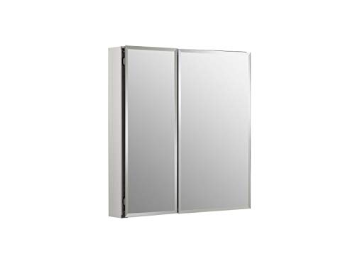 Kohler K-Cb-Clc2526Fs Frameless 25 Inch X 26 Inch Aluminum Bathroom Medicine Cabinet; -