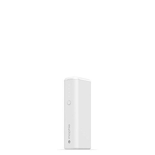 mophie Power Boost Mini - Cargador Portátil Universal Mini - 1 Carga (2,600mAh) Color Blanco