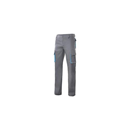 VELILLA - Pantalón Bicolor Multibolsillos con Refuerzo de Tejido 103004 Hombre Gris-Celeste 52