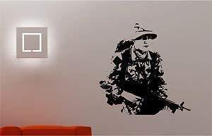 Online Design Soldat Armée Militaire Homme Autocollant Art Mur Chambre pour Enfants Décalcomanie - Turquoise