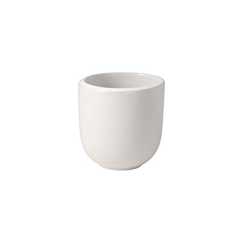 Villeroy & Boch 10-4264-9660 NewMoon Becher ohne Henkel, Moderne Tasse für Tee und Kaffee, Premium Porzellan, weiß, spülmaschinengeeignet, Porcelain