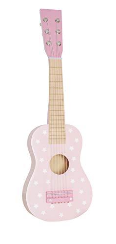 JaBaDaBaDo Kindergitarre Sterne rosa oder Mint Pastell Spielgitarre Lerngitarre Gitarre Spielzeug Holz Holzspielzeug Junge Mädchen (rosa Pastell)