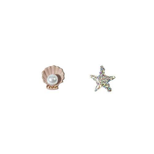 Exquise schattige krab zeester met diamanten kleine oorbellen persoonlijkheid kleine parel schelp oorbellen oorbellen vrouwelijk