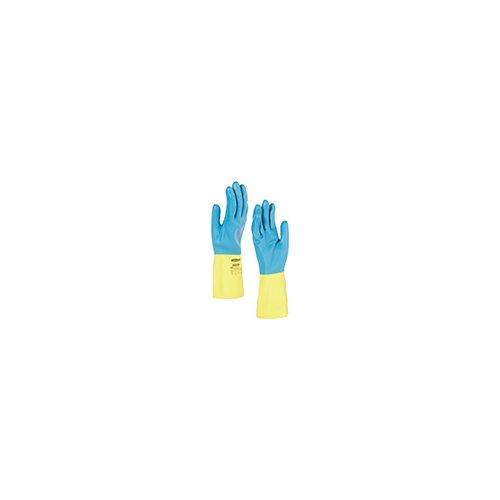 Kimberly Clark 38744 Jackson Safety G80 neopreen chemicaliën beschermende handschoenen, handspecifieke paar, 30 cm, geel/blauw (60-pack)