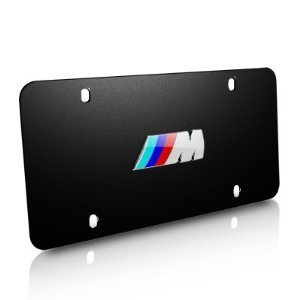 BMW M Logo Marque Plate- Black Stainless Steel