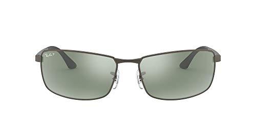 Ray-Ban RB 3498 Gafas de sol, Matte Gunmetal, 61 para Hombre