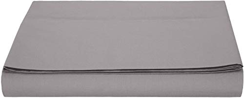 AmazonBasics Bettlaken, Mikrofaser, Dunkelgrau, 180 x 290 + 10 cm