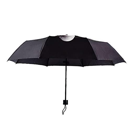 YONGLI Vertikaler Mittlerer Finger Sonniger Und Regnerischer Dreifacher Regenschirm Tragbarer Reisen Winddichter Sonnencreme-Regenschirm (Color : Black)