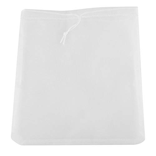 Nicoone Bolsa de leche de nuez Colador de tela de malla de nylon Filtro de leche de almendra bolsa de filtro reutilizable Tamiz de cocina