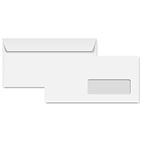 Clairefontaine Clairalfa, 250Stück selbstklebende Briefumschläge 162x 229mm, weiß