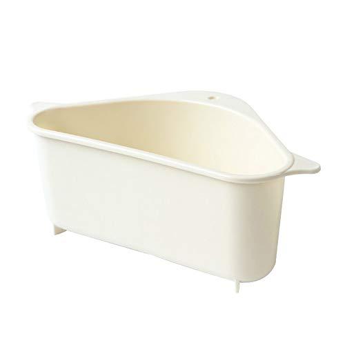 Gelentea keukenwastafel mandje, driehoekige multifunctionele afvoerplank opslag rek keuken zuignap badkamer steun hoek opknoping plank zeep doos