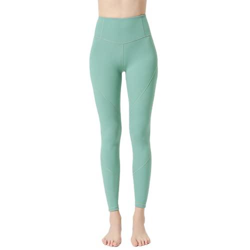 QTJY Medias de Yoga en Forma de corazón Pantalones de Yoga Desnudos Mujeres Cintura Alta Caderas de melocotón Fitness Estiramiento Deportes Sexy Pantalones para Correr D M