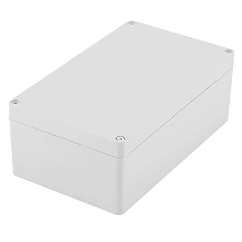 Caja de Conexiones Impermeable a Prueba de Polvo IP65 Caja de Conexiones de plástico ABS Cajas eléctricas universales Recinto del Proyecto Gris(200 * 120 * 75mm)