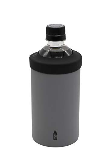 シービージャパン ペットボトル ホルダー グレー Mサイズ 保温 保冷 ステンレス 真空 断熱 BOT GOMUG