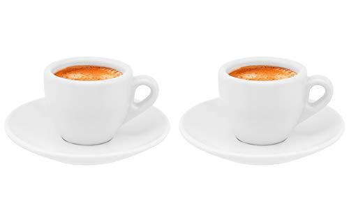 Luxpresso dickwandige Espressotassen Ristretto Autentico, weiß aus Porzellan, 2 St.