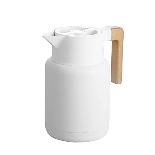 HyiFMY Vidrio 1.3L Grande casa de Agua Caliente Olla Tetera Oficina cafetera Termal cálido Botellas Doble Pared Taza de café Botella térmica Cocina
