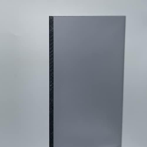 Placa de policarbonato tintada, gris, 4 mm, 21% de transmisión, translúcida (transparente), brillante, absorbe los rayos UV (500 x 400)