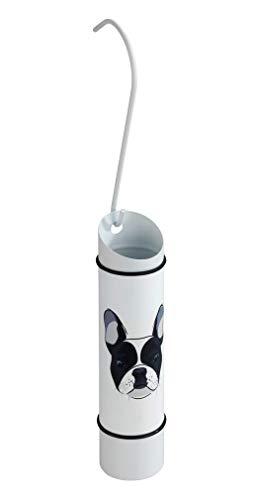 WENKO Humidificador Perro - Humidificador ambiental con motivo, para radiadores, Acero inoxidable, 5 x 20 x 5 cm, Blanco