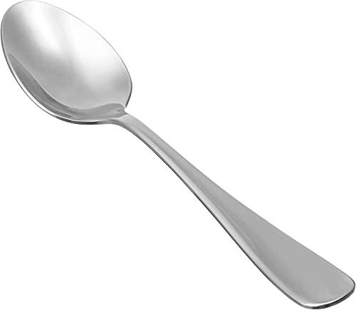 Cuchara de sopa de acero inoxidable de cabeza redonda, juego de 12