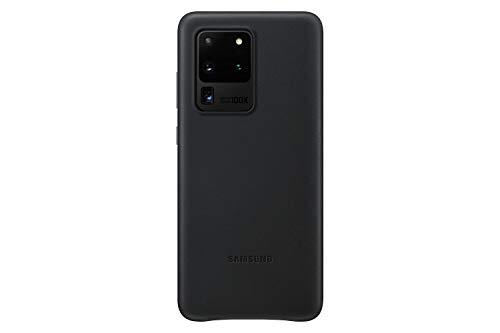Samsung Leather Smartphone Cover EF-VG988 für Galaxy S20 Ultra Handy-Hülle, echtes Leder, Schutz Hülle, stoßfest, premium, schwarz