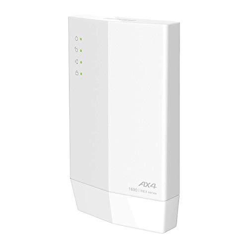 バッファロー WiFi 無線LAN 中継機 Wi-Fi6 11ax / 11ac 1201+573Mbps ハイパワー コンパクトモデル 簡易パッケージ 日本メーカー【 iPhone 12 / 11 / iPhone SE (第二世代) メーカー動作確認済み】 WEX-1800AX4/N
