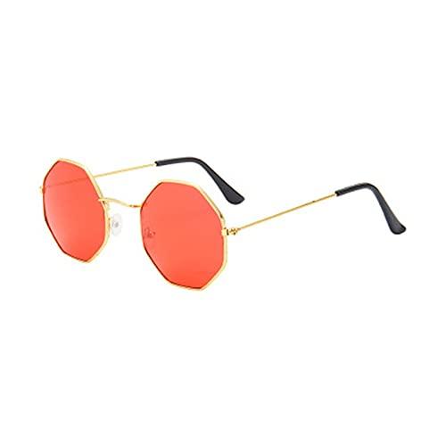 ZHEMAIE Gafas de Sol 1 unid Mujer Moda Irregular niñas Colorido Lente Marco de Metal Gafas de Sol Gafas Gafas Mujeres conducen Gafas anti-uv400 al por Mayor (Frame Color : 9)