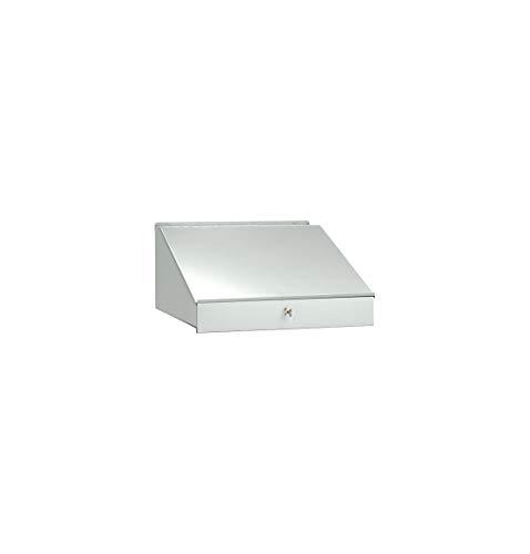 SSI Schäfer Schreibpultaufsatz für Werkzeugschränke, lichtgrau, aufklappbar, abschließbar mit Sicherheitsschloss