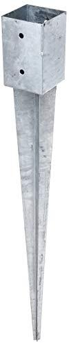 GAH-Alberts 211301 Einschlag-Bodenhülse | für Rund- oder Vierkantholzpfosten | feuerverzinkt | 91 x 91 mm | Gesamtlänge 900 mm