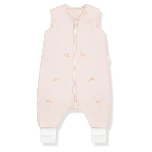 Sleeping Rebels® Saco de dormir para bebé con pies para verano, de algodón orgánico, 1.0 tog, calidad premium (Rainbow, 80 cm)