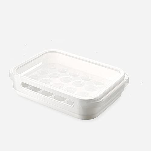 PANCHEN 24 Grids Kühlschrank Organizer Lebensmittelkonservierung-Food Storage Box Küche Kühlschrank Ei Obst Frischhalte Container Küche