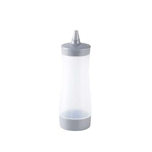 XVXFZEG Tapa del apretón Libre de BPA Botellas del condimento con el Casquillo, Botellas de plástico Perfecto for Ketchup, Mostaza, aderezos, Aceite de Oliva, Salsa de Barbacoa (Color : Gray)