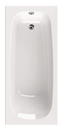 Calmwaters® Rechteck-Badewanne 170x75 cm, Acrylwanne Original, ergonomische Körperformbadewanne, Maße 170 x 75 cm, Rechteckbadewanne Weiß - 02SL3012