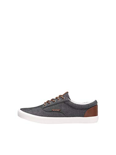 JACK & JONES Jfwvision Classic Chambray Anthraci Noos, Zapatillas Hombre, Gris (Anthracite Anthracite), 45 EU