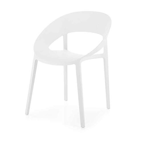 Mocada Eva Sedia in Polipropilene Vari Colori Design - Bianco