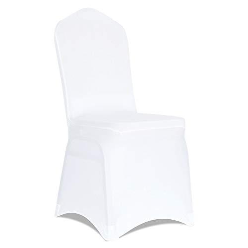 Kapwall Stuhlhussen aus Polyester, Spandex, Weiß, 20 Stück weiß
