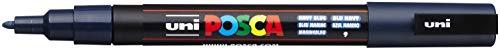 POSCA PC-3 M rotulador punta fina – black-p, color azul ma