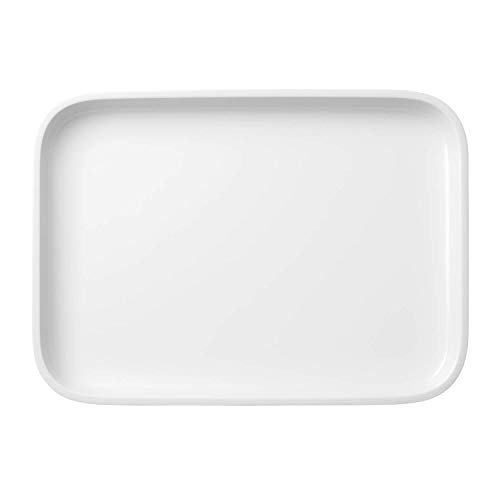 Villeroy & Boch 13-6021-3015 Servierplatte, Porzellan, Weiß, 36 x 26 x 4 cm