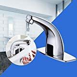 Yosoo Rubinetto sensore automatico rubinetti infrarossi per Lavabo del Bagno Monocomando a Cascata