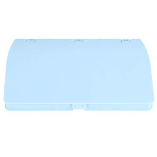 KESYOO Bouche Face Cover Box En Plastique Portable Étui De Rangement Pliant Étanche À La Poussière Boîte Bouche Muffle Holder Conteneur (Bleu Ciel)