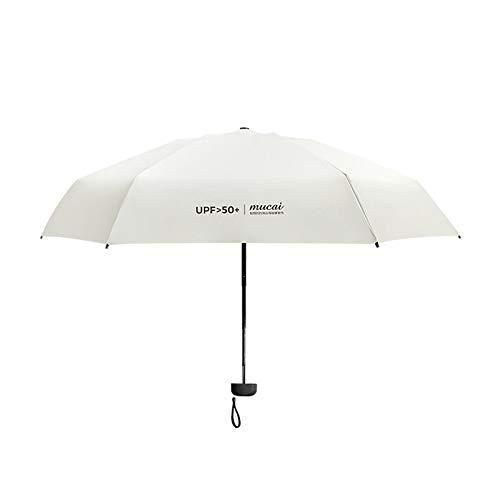 NFHBBAA Protection Contre Les Rayons UV Parapluie Femelle Coupe-Vent Durable Parapluie Pliant Portable Protection Solaire Parapluie Femelle
