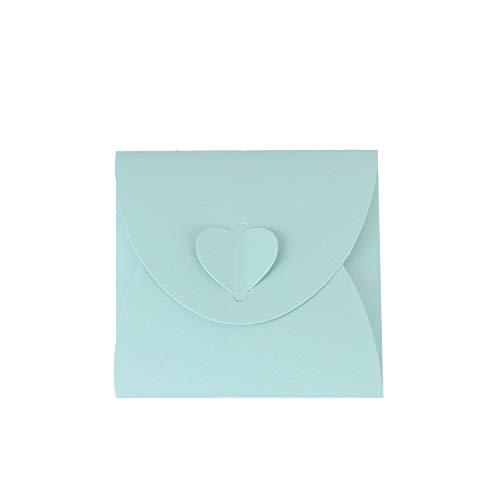 Wolfteeth 50 pz Custodia CD Jewel Case Porta Dvd Base Bustina Busta in Carta per Matrimonio Laurea Compleanno Blu